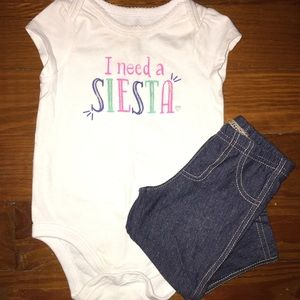 "🎉HP🎉""I Need A Siesta"" Onesie & Jeggings Outfit"